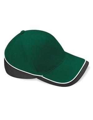 Teamwear Competition Cap Fb. Bottle Green/Black/White/ Gr. One Size