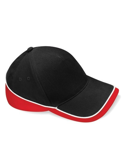 Teamwear Competition Cap Fb. Black/Classic Red/White/ Gr. One Size