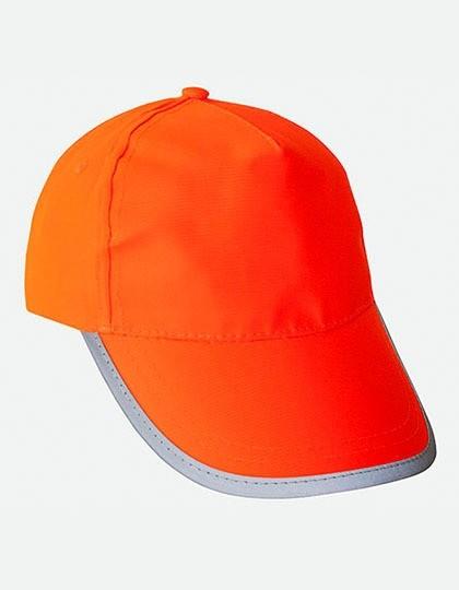 Warnschutzbaseball-Cap in orange Einheitsgröße