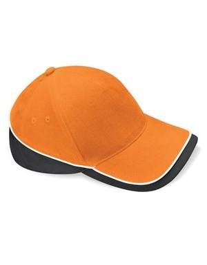 Teamwear Competition Cap Fb. Orange/Black/White/ Gr. One Size