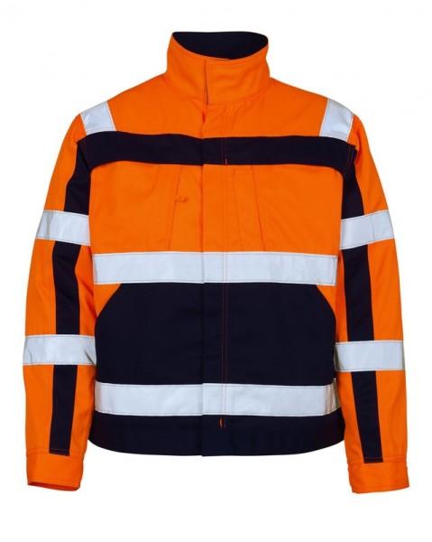 Cameta Warnschutz - Arbeitsjacke Fb. hi-vis Orange/Marine, Gr. M