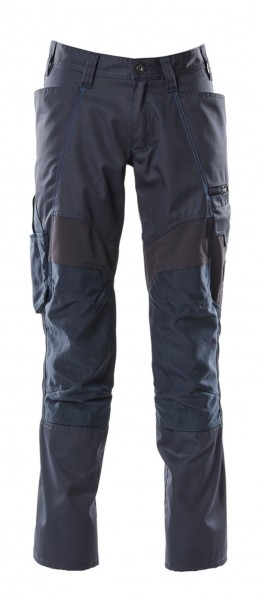Hose mit Knietaschen, Stretch-Einsätze Hose Fb. Schwarzblau, Gr. 82C50