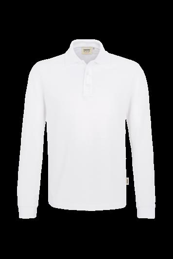 Longsleeve-Poloshirt Performance Fb. Weiß, Gr. 2XL