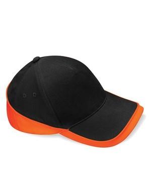 Teamwear Competition Cap Fb. Black/Orange Gr. One Size