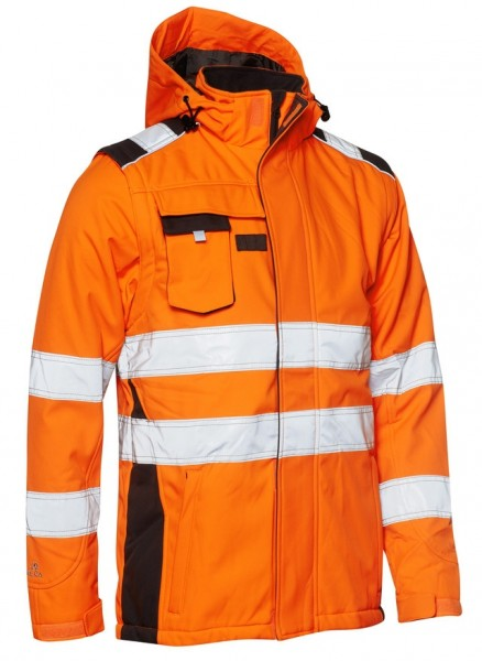Winter Softshell-Jacke EN ISO 20471 Fb. Warnorange/Grau, Gr. 2XL