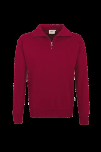 Zip-Sweatshirt Premium Fb. weinrot Gr. L