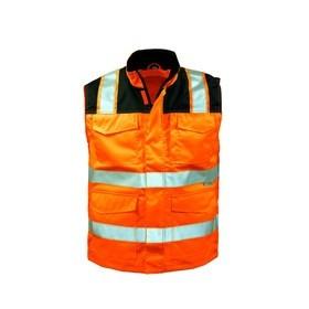 Warnschutzweste EN 20471 Kl.2,orange/schwarz #Varinfo