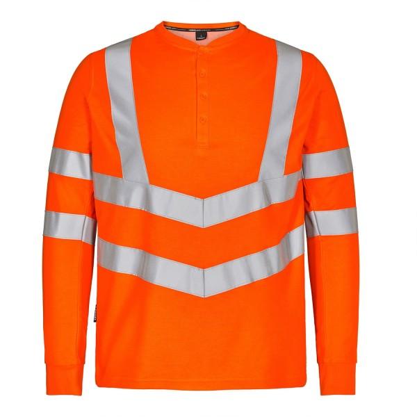 Safety Grandad T-shirt L/S Fb. Orange Gr. 2XL