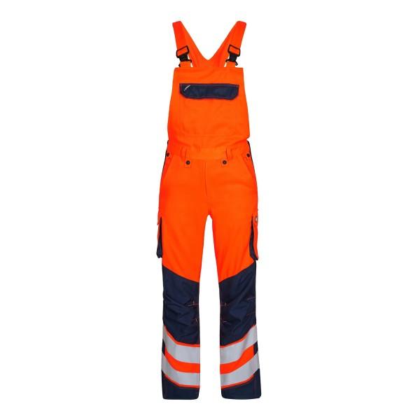Safety Latzhose Sommer Fb. Orange Blue, Gr. 52