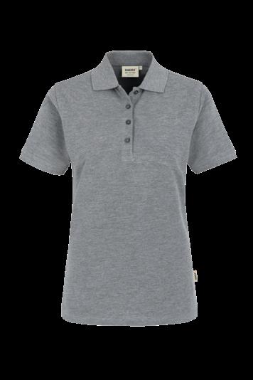 Damen-Poloshirt Classic Fb. grau meliert Gr. M