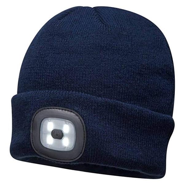 Mütze mit abnehmbaren LED-Licht, Fb. navy, Einheitsgröße