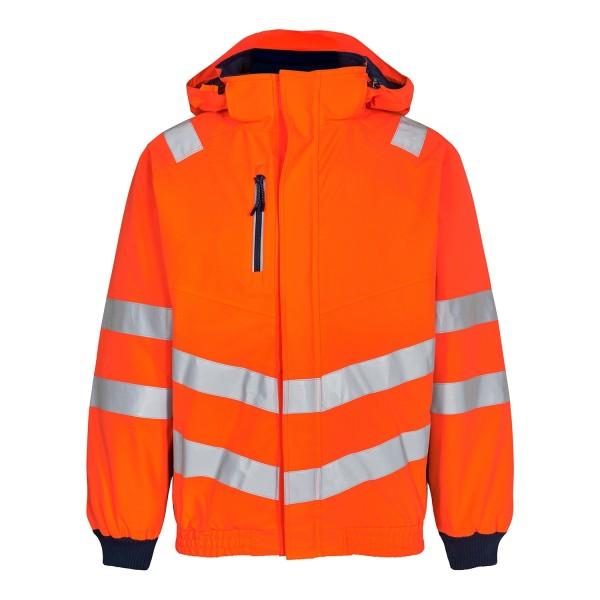 Warnschutz Pilotjacke Safety Fb. Orange Blue, Gr. L