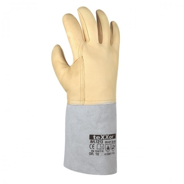 Schweißer-Handschuh,beige #Varinfo