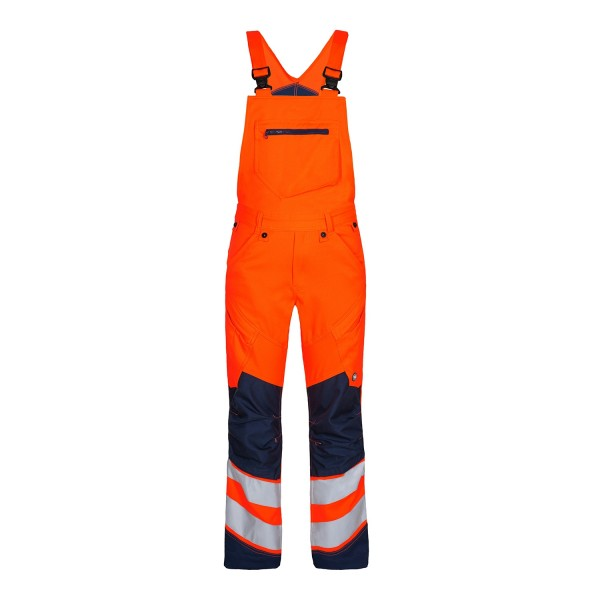 Stretch Warnschutz Latzhose Safety Fb. Orange Blue, Gr. 50