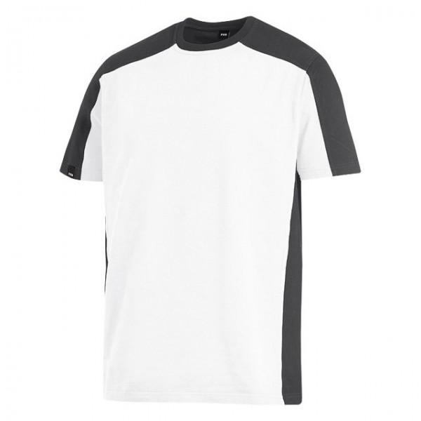 MARC T-Shirt zweifarbig, weiß-anthrazit, Gr. 2XL