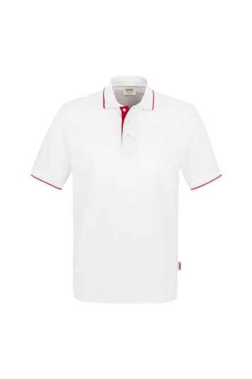 Poloshirt Casual Fb. weiß/rot Gr. 2XL