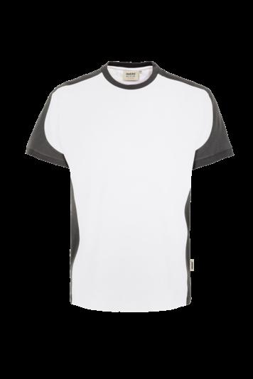 Herren T-Shirt 2Farbig Contrast Performance Fb. Weiß, Gr. 2XL
