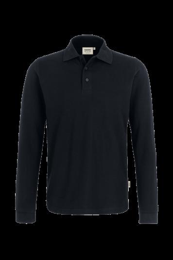 Longsleeve-Poloshirt Classic Fb. schwarz Gr. S