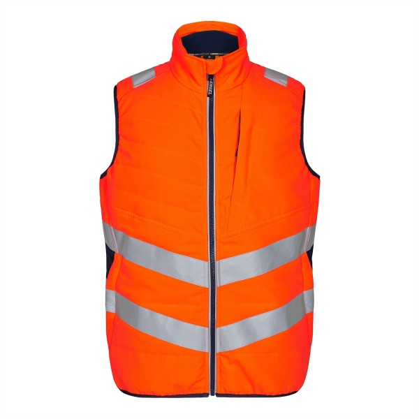 Safety Steppweste Fb. Orange/Blue Ink Gr. M