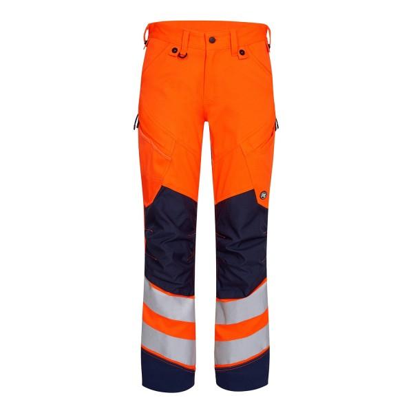 Safety Warnschutzhose aus Stretch EN 20471 Fb. Orange Blue, Gr. 46