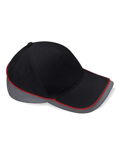 Teamwear Competition Cap Fb. Black/Graphite Grey/Classic Red/ Gr. One Size
