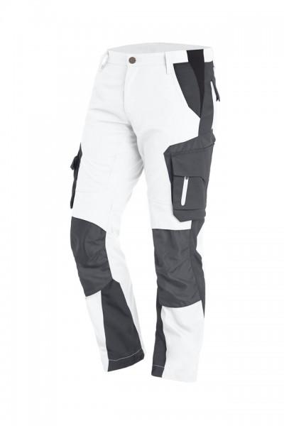FLORIAN Arbeitshose mit Knieverstärkung Fb. Weiß-Anthrazit, Gr. 102