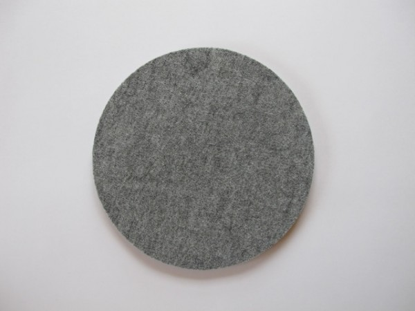 Filz Rund 18cm Durchmesser ca.5mm dick hellgrau