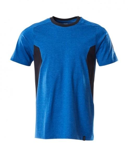 T-Shirt, moderne Passform T-shirt Fb. Azurblau/Sch