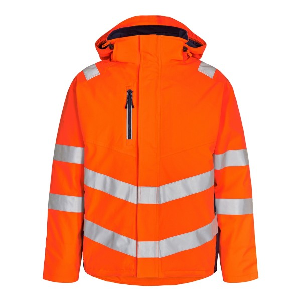 Safety Winterjacke Fb. Orange/Blue Ink Gr. L