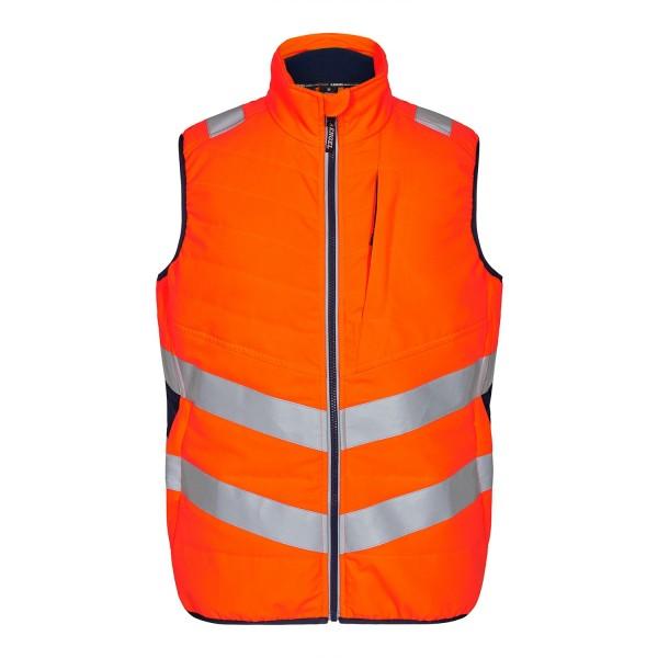 Safety Steppweste Fb. Orange Blue, Gr. M
