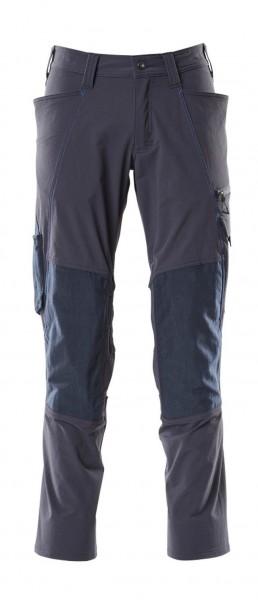 Hose, Knietaschen, Stretch Hose Fb. Schwarzblau, G