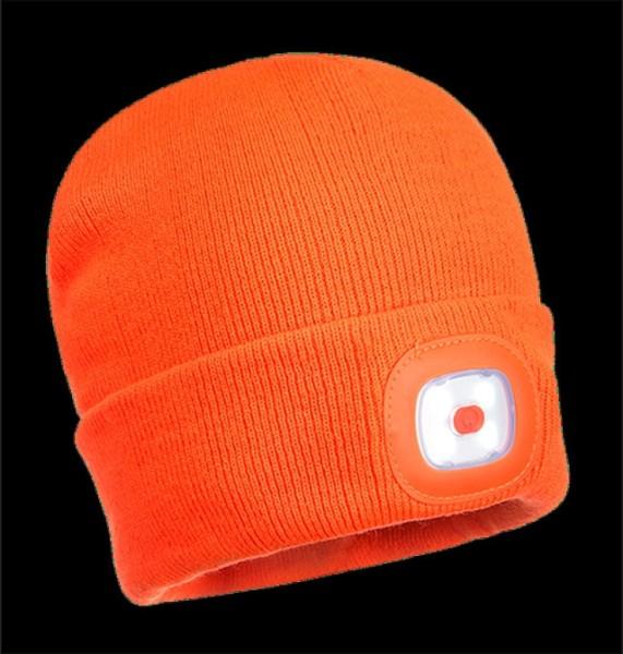 Mütze mit abnehmbaren LED-Licht, Fb. orange, Einheitsgröße