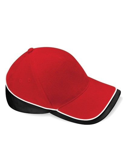 Teamwear Competition Cap Fb. Classic Red/Black/White/ Gr. One Size