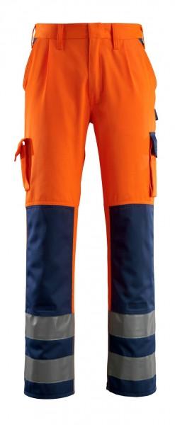 Olinda Warnschutz - Hose Fb. hi-vis Orange/Marine, Gr. 82C50