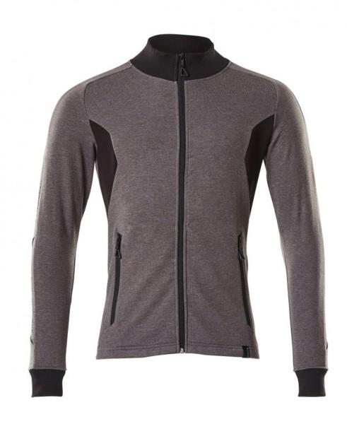 Sweatshirt mit Reißverschluss,modern Fit Sweatshirt mit Reißverschluss Fb. Dunkelanthrazit/Schwarz, Gr. M ONE