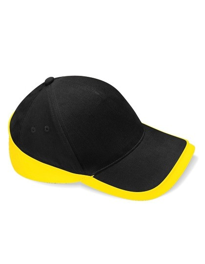 Teamwear Competition Cap Fb. Black/Yellow Gr. One Size