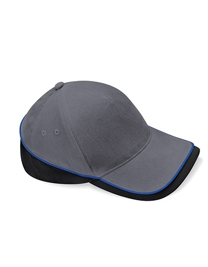 Teamwear Competition Cap Fb. Graphite Grey/Black/Bright Royal/ Gr. One Size