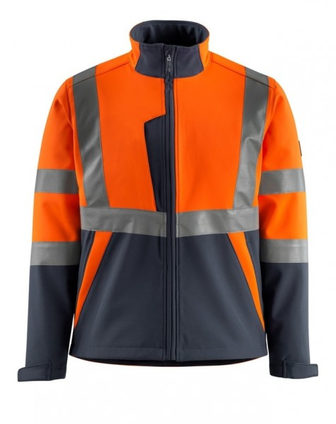 Kiama Soft Shell Jacke Fb. hi-vis Orange/Schwarzbl